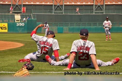 Taveras and Jackson stretch