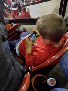 by the 5th inning, all the scoring became ho-hum for this little fan in front of us.  ;)