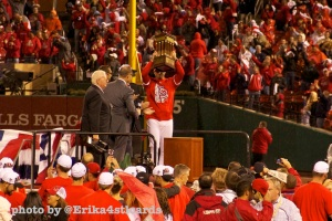 Matheny shows it off